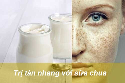 trị tàn nhang bằng sữa chua