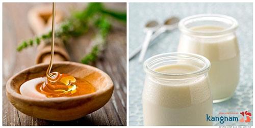 trị tàn nhang bằng mật ong và sữa chua