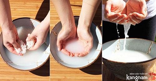 trị nám bằng cám gạo