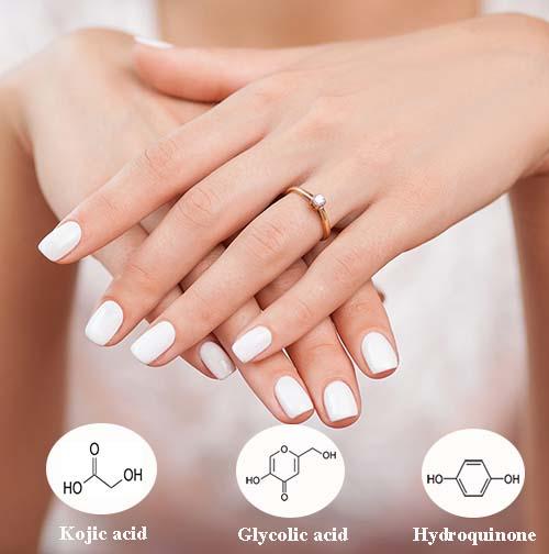 cách trị đốm nâu trên da tay