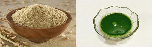 mặt nạ rau diếp cá và cám gạo
