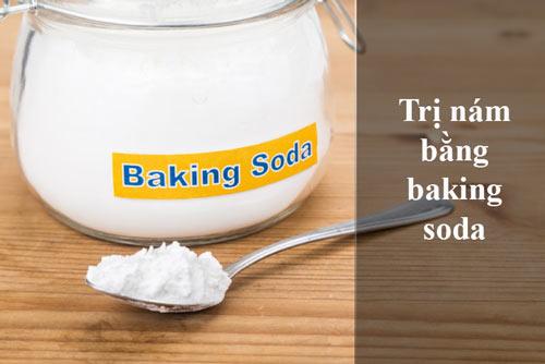 trị nám bằng baking soda