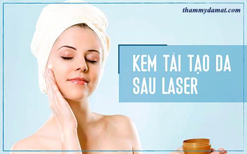Nên sử dụng kem tái tạo da sau khi tẩy tàn nhang