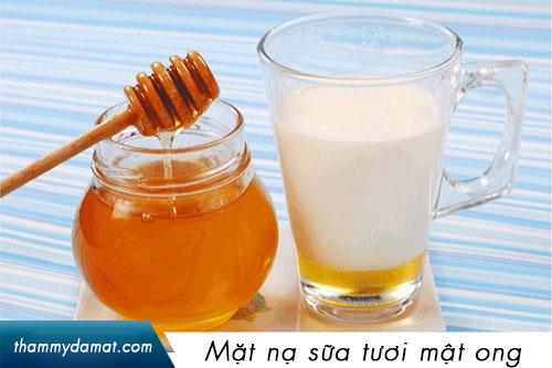 mặt nạ sữa tươi mật ong