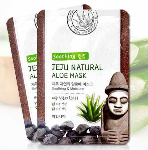 mặt nạ jeju natural aloe mask