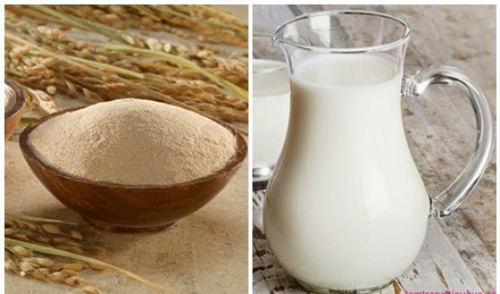 mặt nạ cám gạo sữa tươi