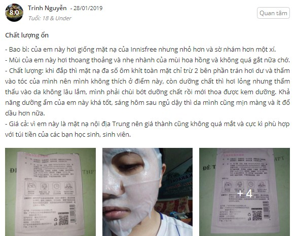 mặt nạ bisutang review